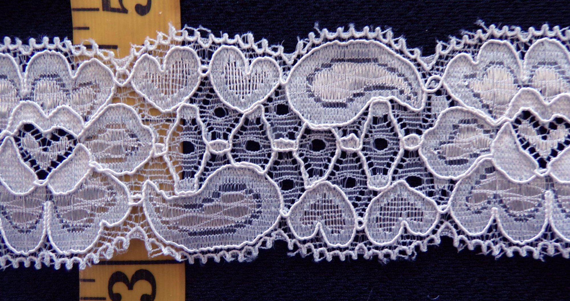 1 5/8 Light Gray Stretch lace (LGSL341)