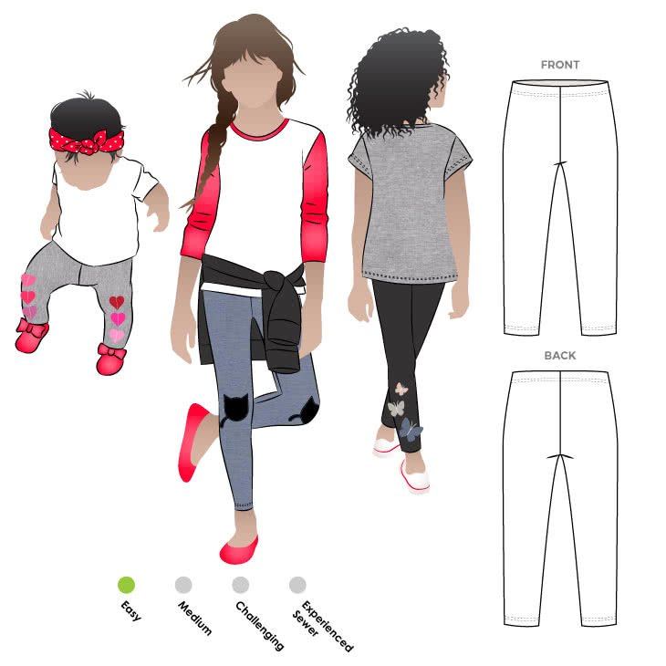 Style Arc Kids Lily Knit Leggings