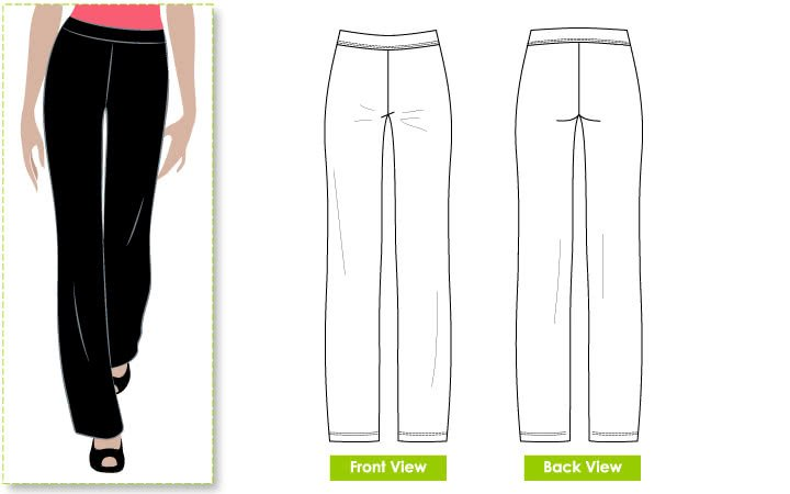 Style Arc Linda Stretch Pant Pattern