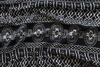 Liverpool Knit - Black Geometric Boho