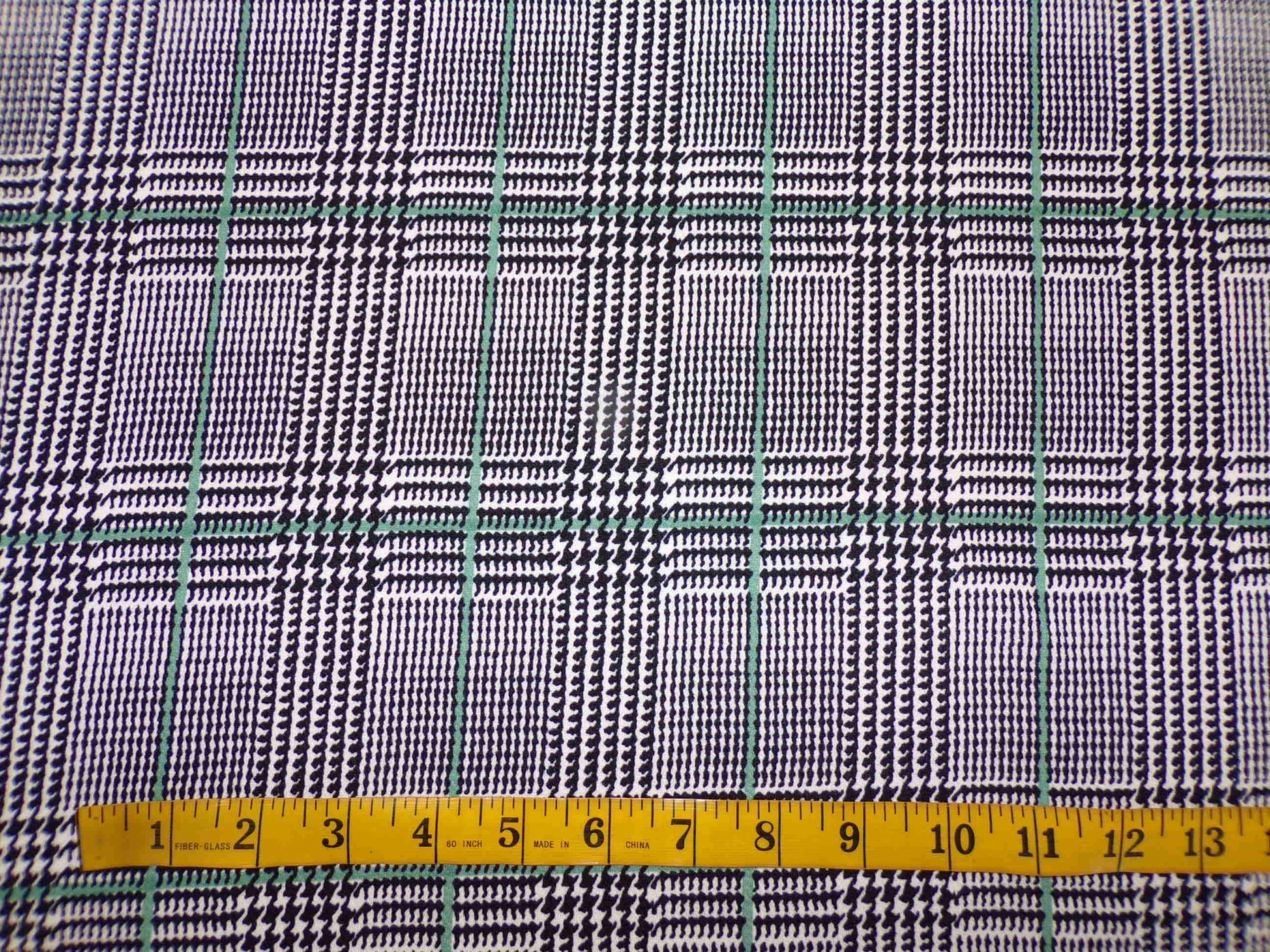 Liverpool Knit - Houndstooth Plaid Teal