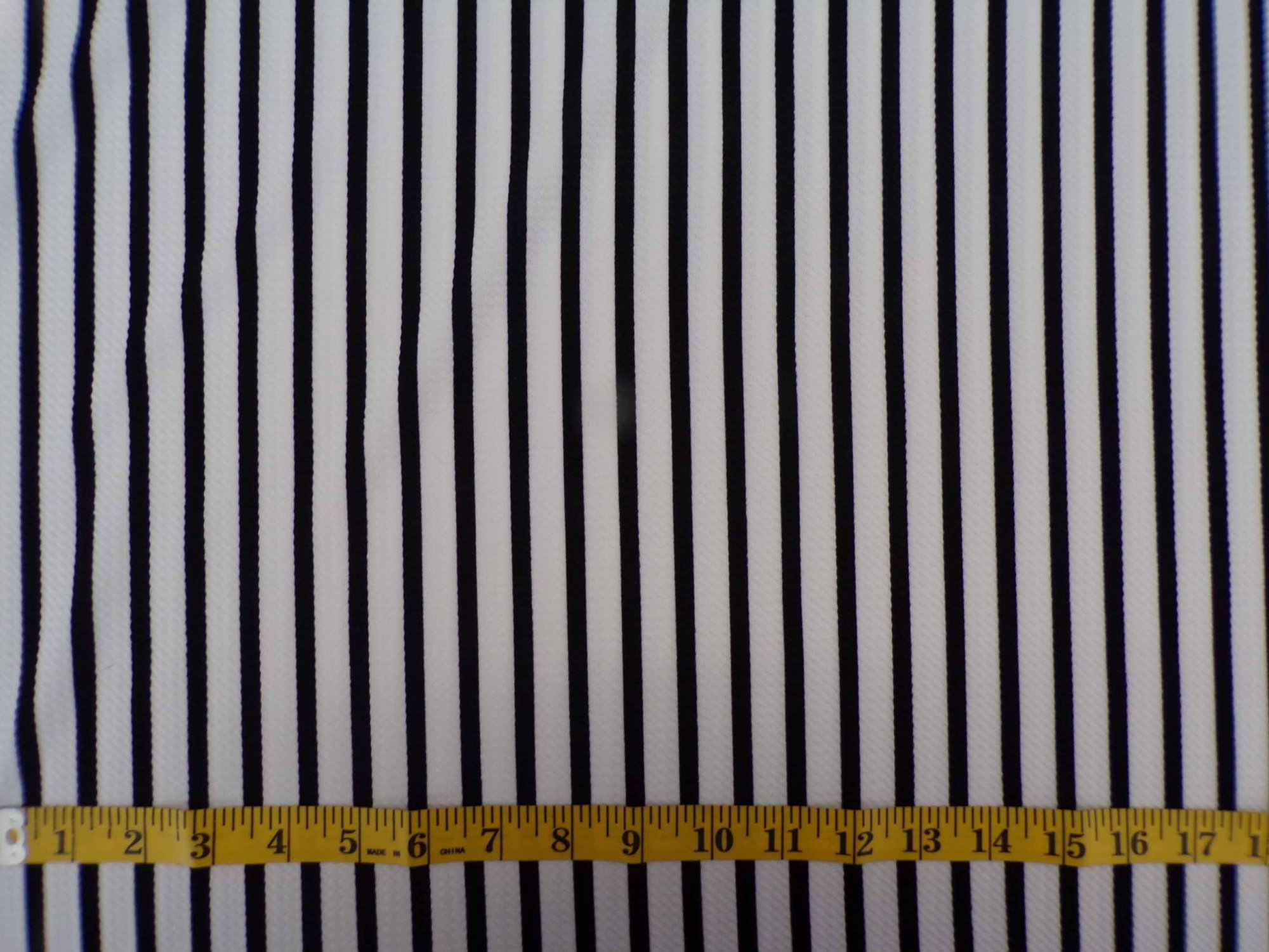 Liverpool Knit - Vertical Black and White Stripes