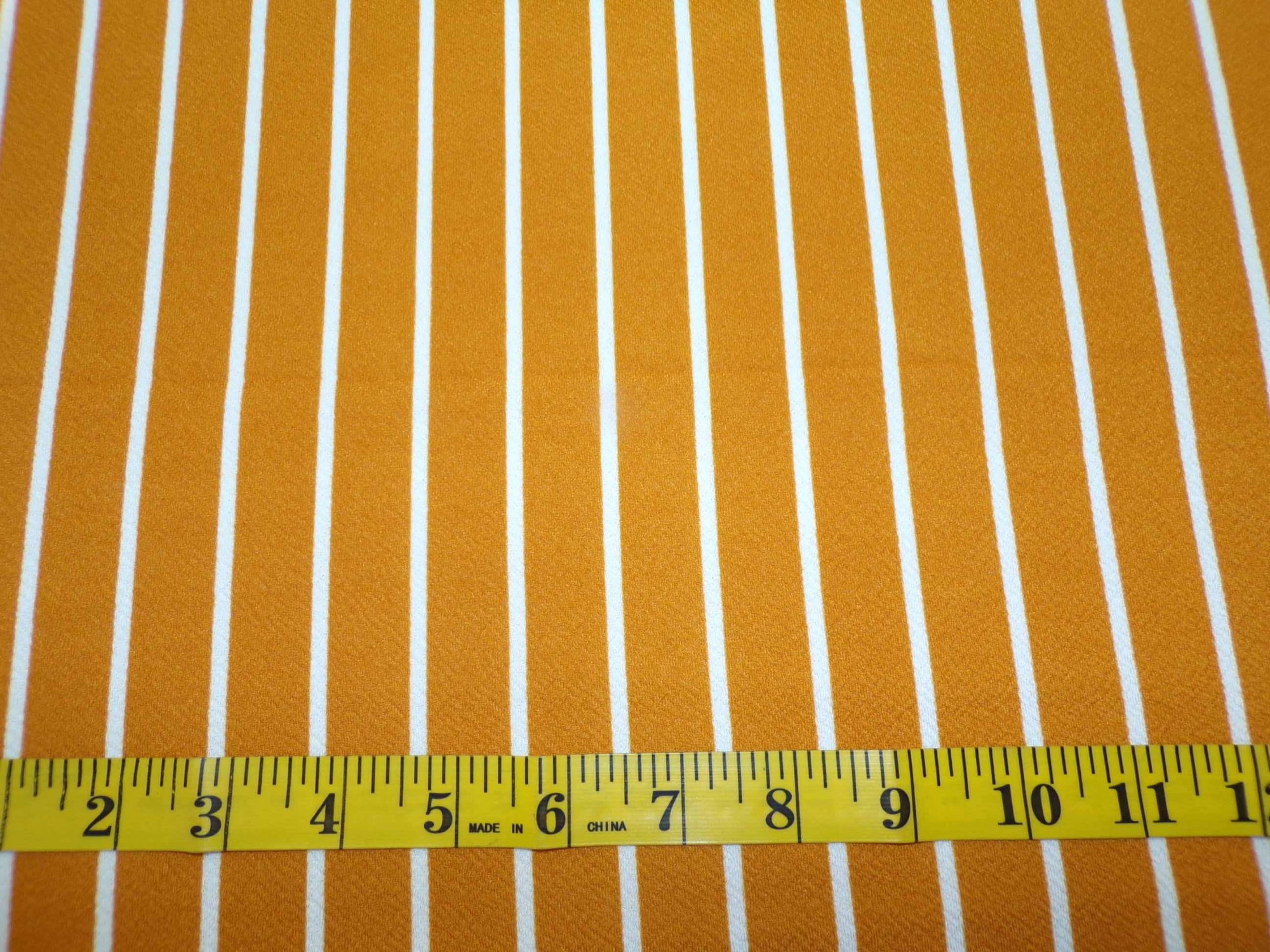 Liverpool Knit -Mustard with Vertical White Stripes