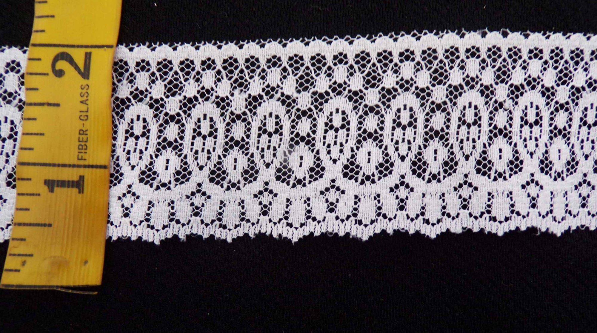1 3/4  Rigid Lace - White