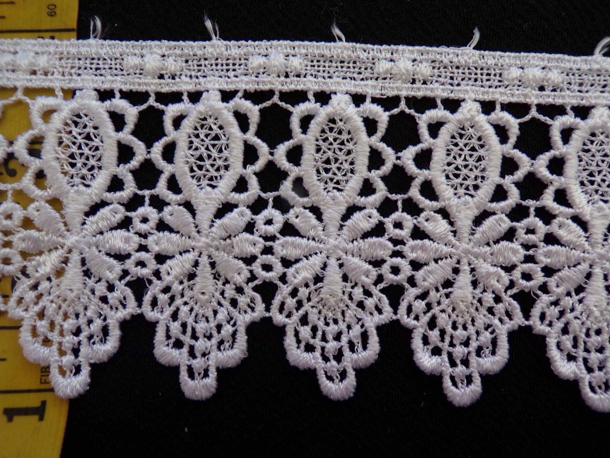 3 1/4 Venice Lace - White
