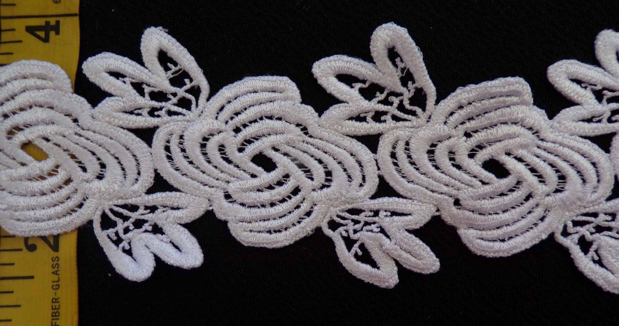 2 1/2 Venice Lace - White