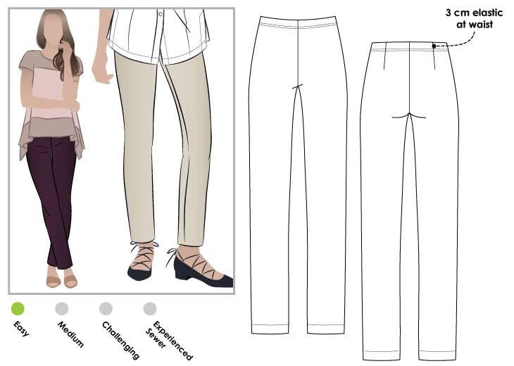 Style Arc Margaret Stretch Pant Pattern