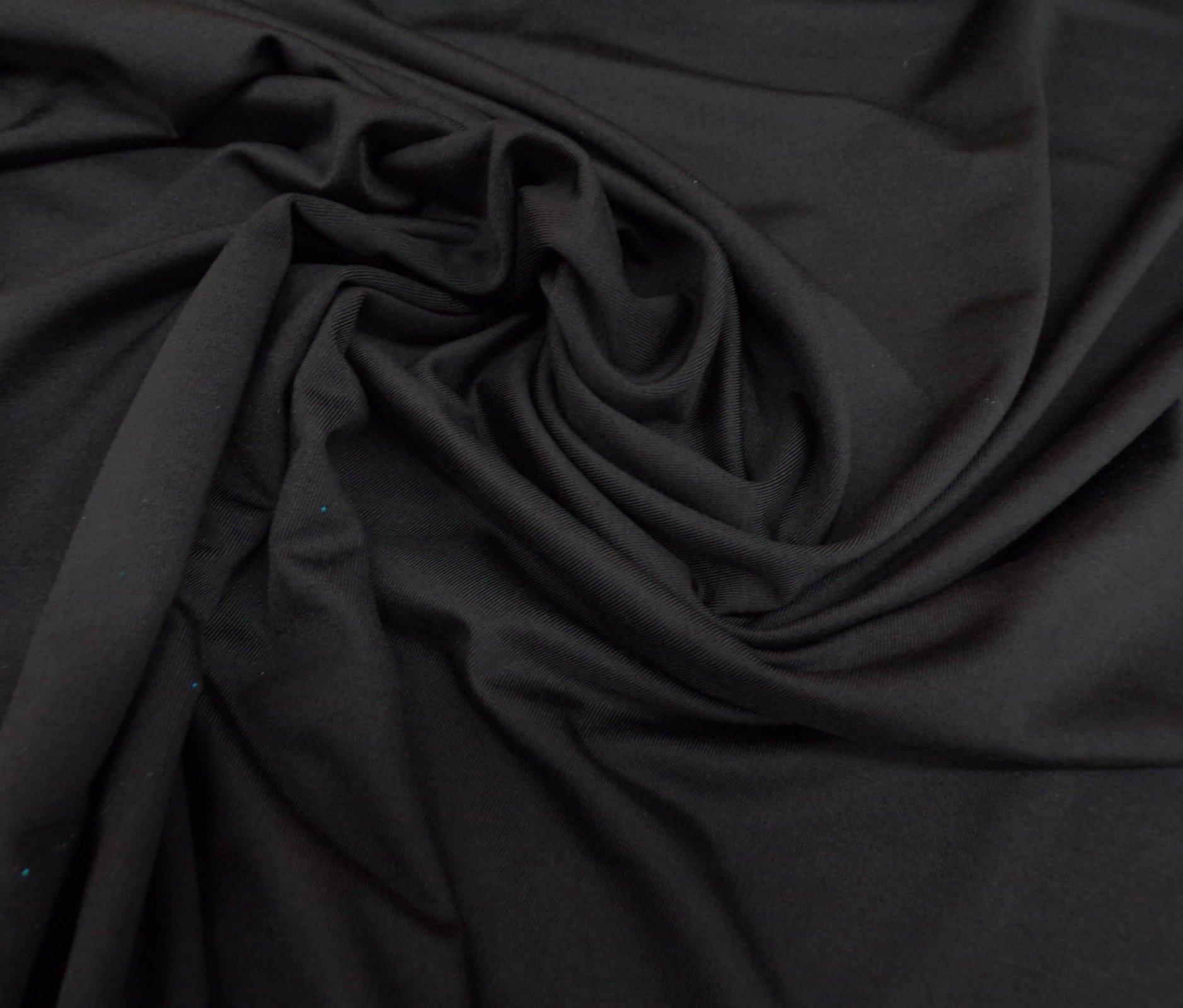 High-Wicking Brushed Jersey - Black