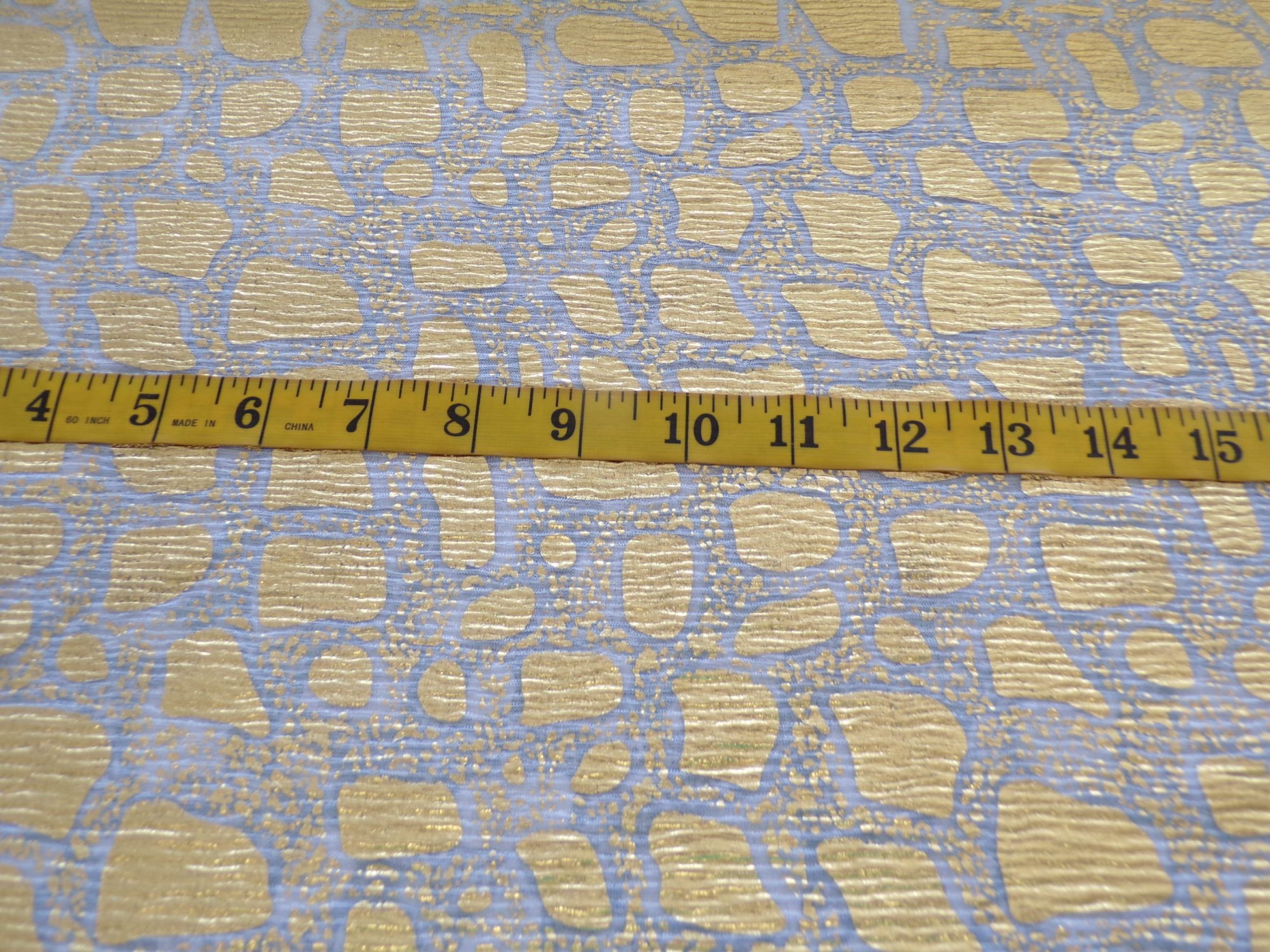 Gold and White Novelty Sheer