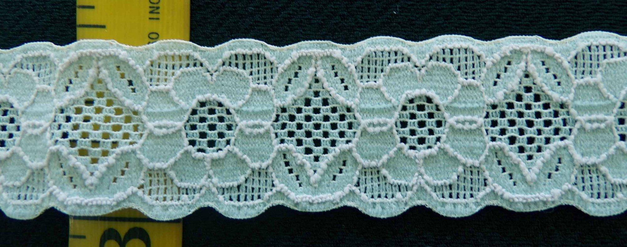 1 1/8 Pale Aqua stretch lace (PASL118)