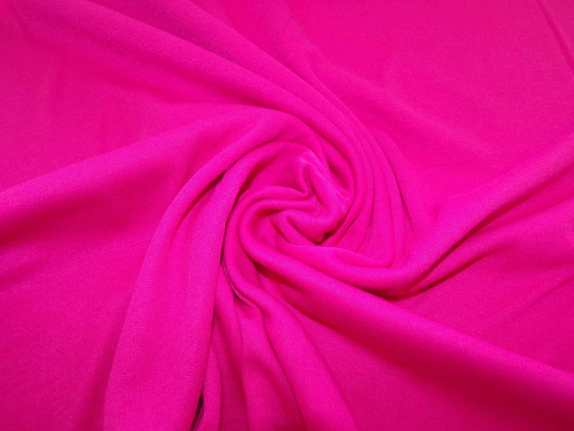 Polyester Cotton Interlock - Hot Pink
