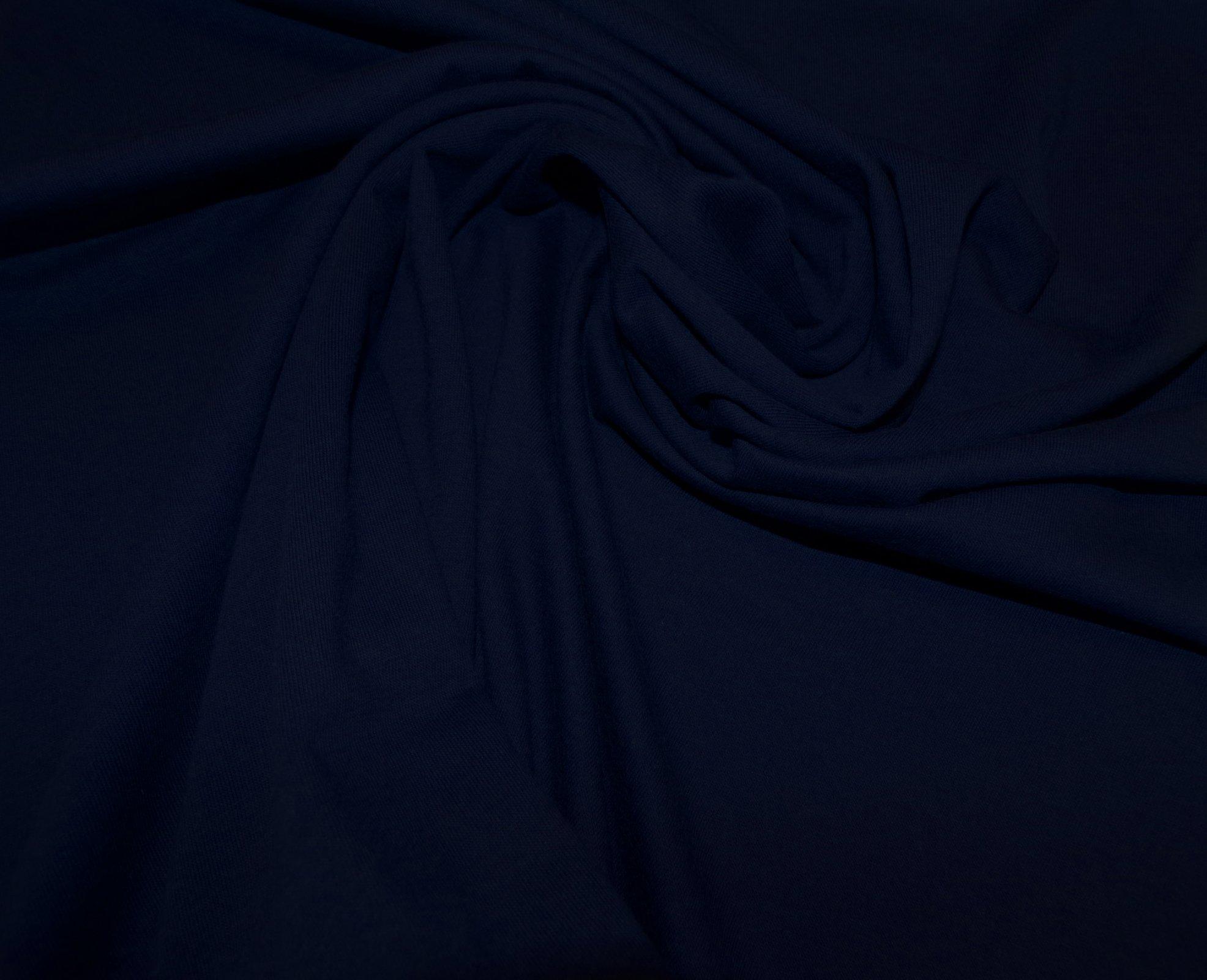 Polyester Cotton Interlock - Navy