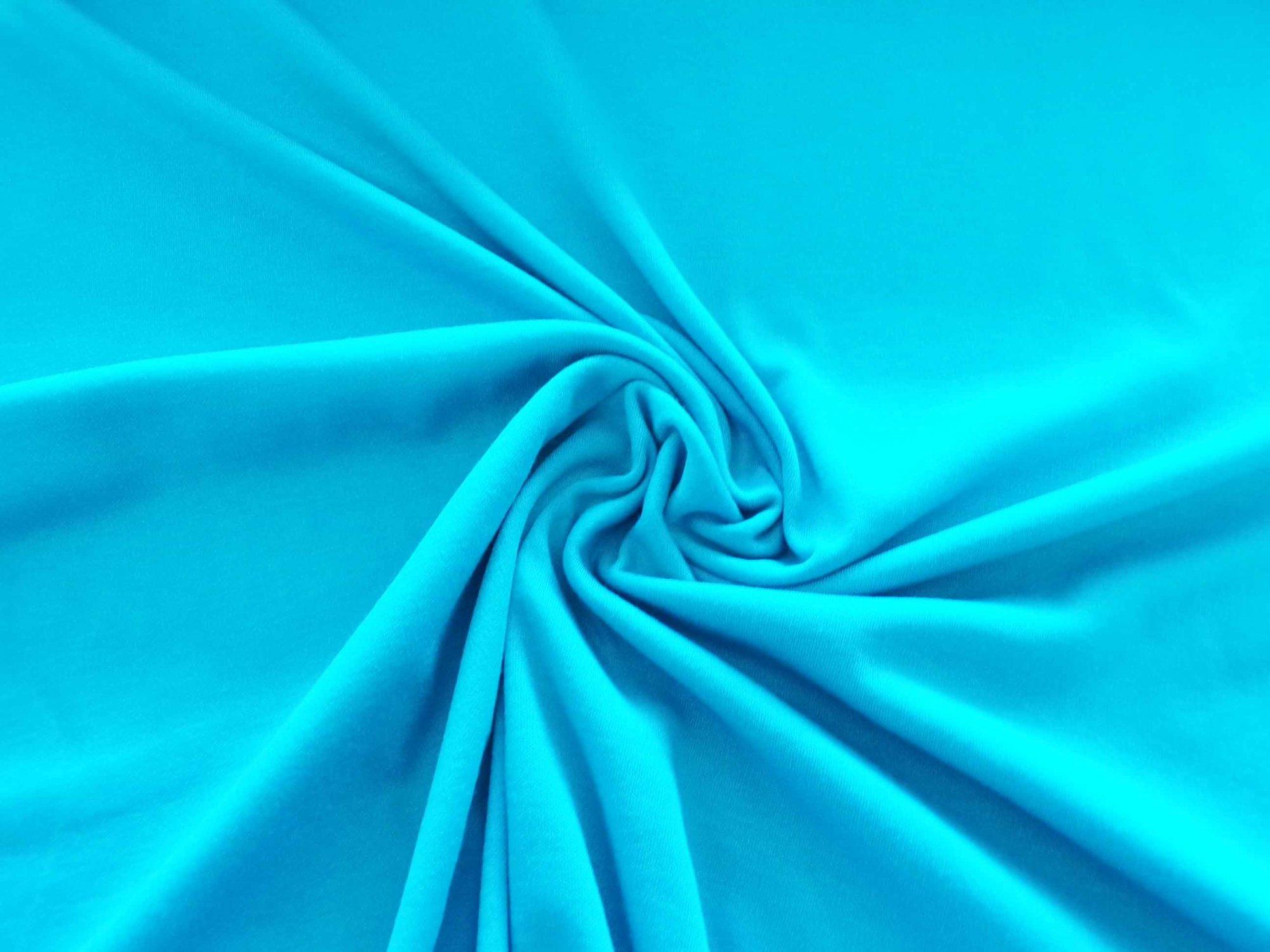 Polyester Cotton Interlock - Turquoise