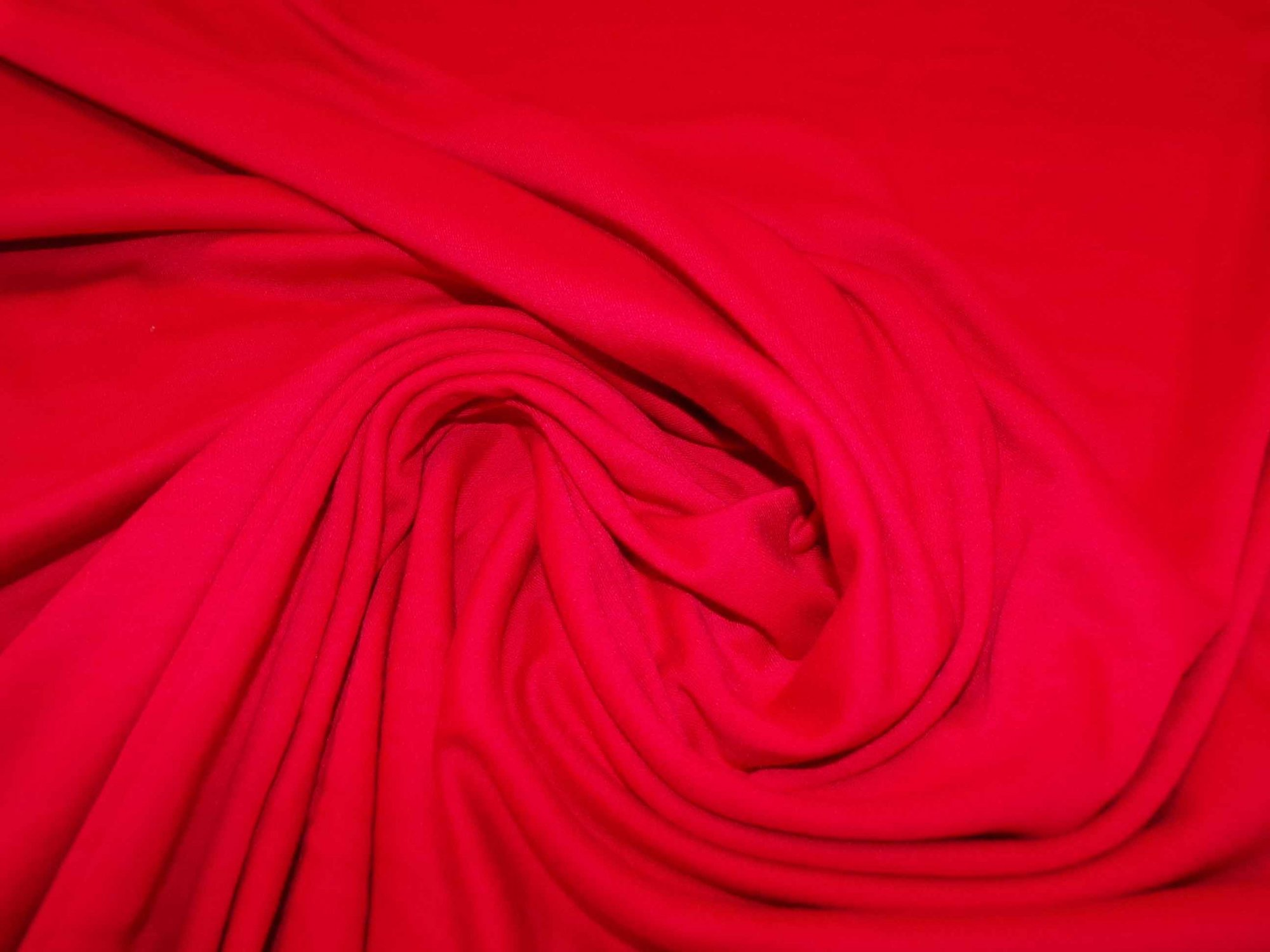 Polyester Cotton Interlock - Red