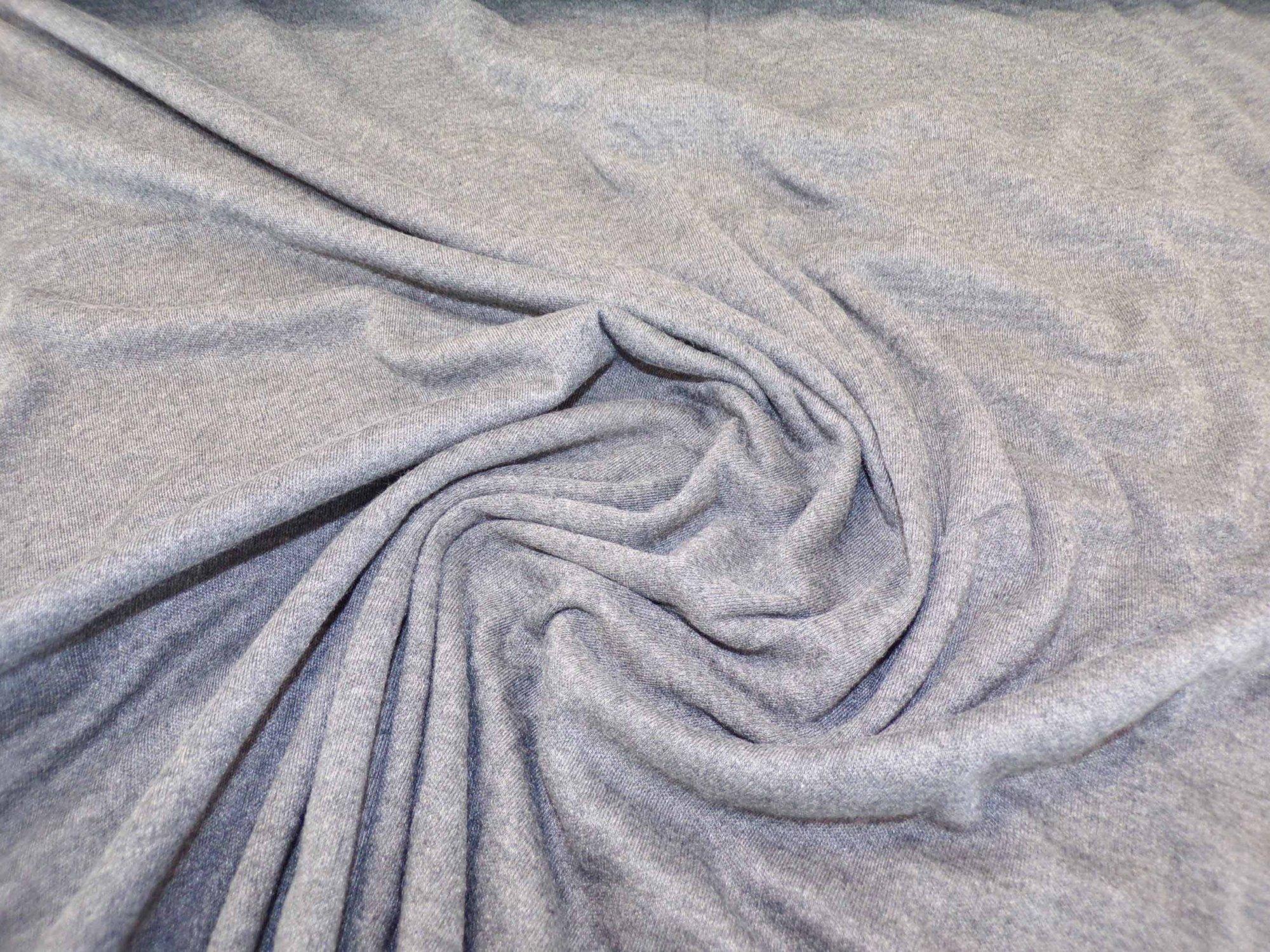 Polyester Cotton Interlock - Charcoal