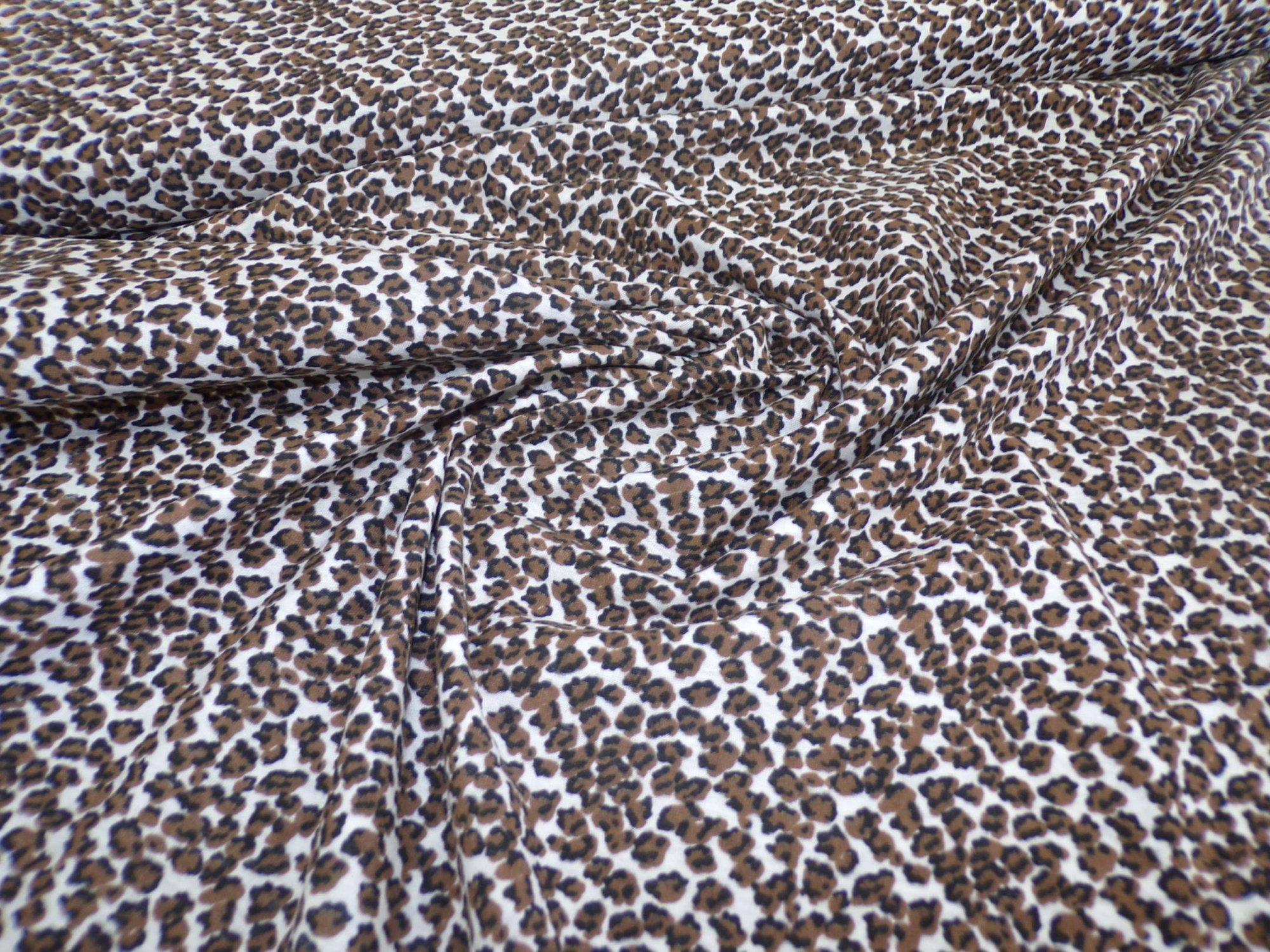 Jersey - Brown / Black Leopard Print