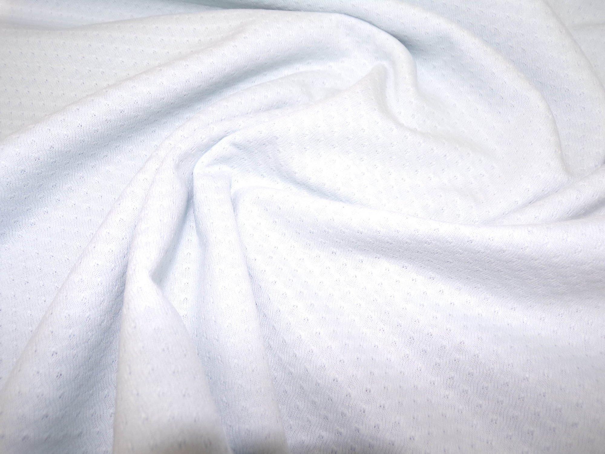 Polyester Cotton Jersey - Light Blue