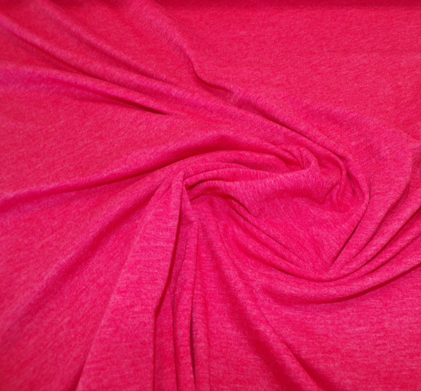 Polyester Cotton Jersey - Heathered Red