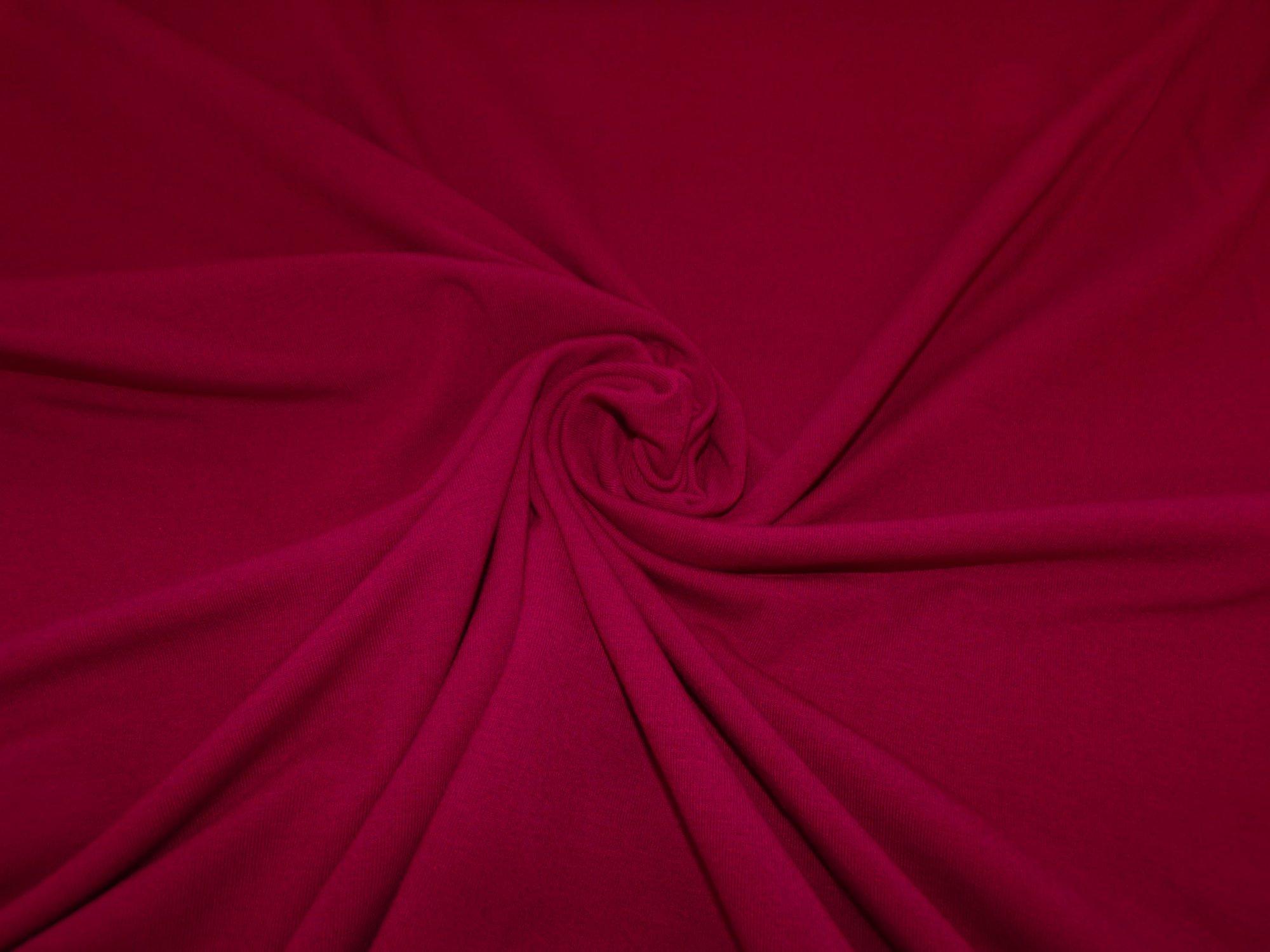 Polyester Cotton Jersey - Dark Red