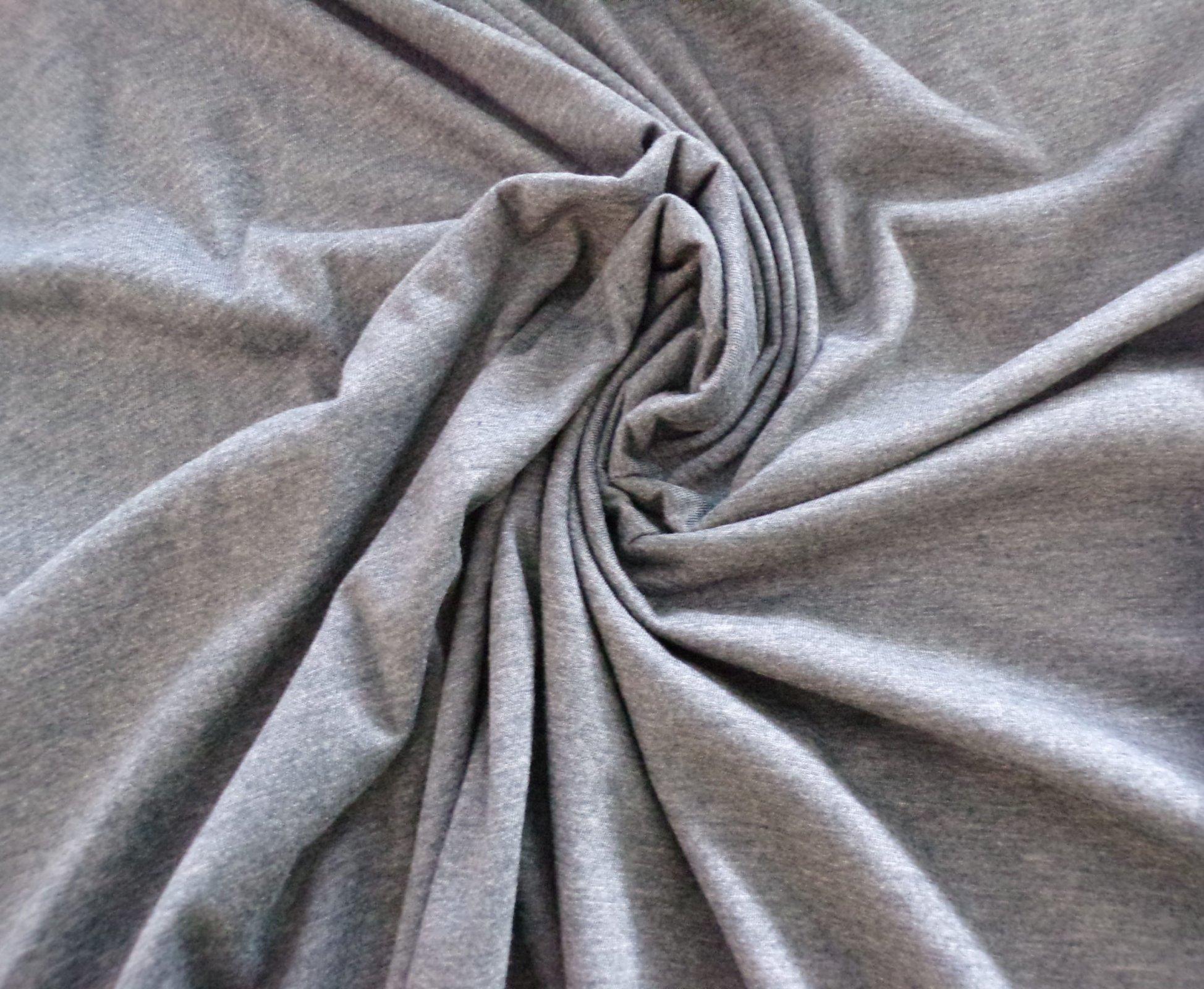 Polyester Cotton Jersey - Dark Blue Gray