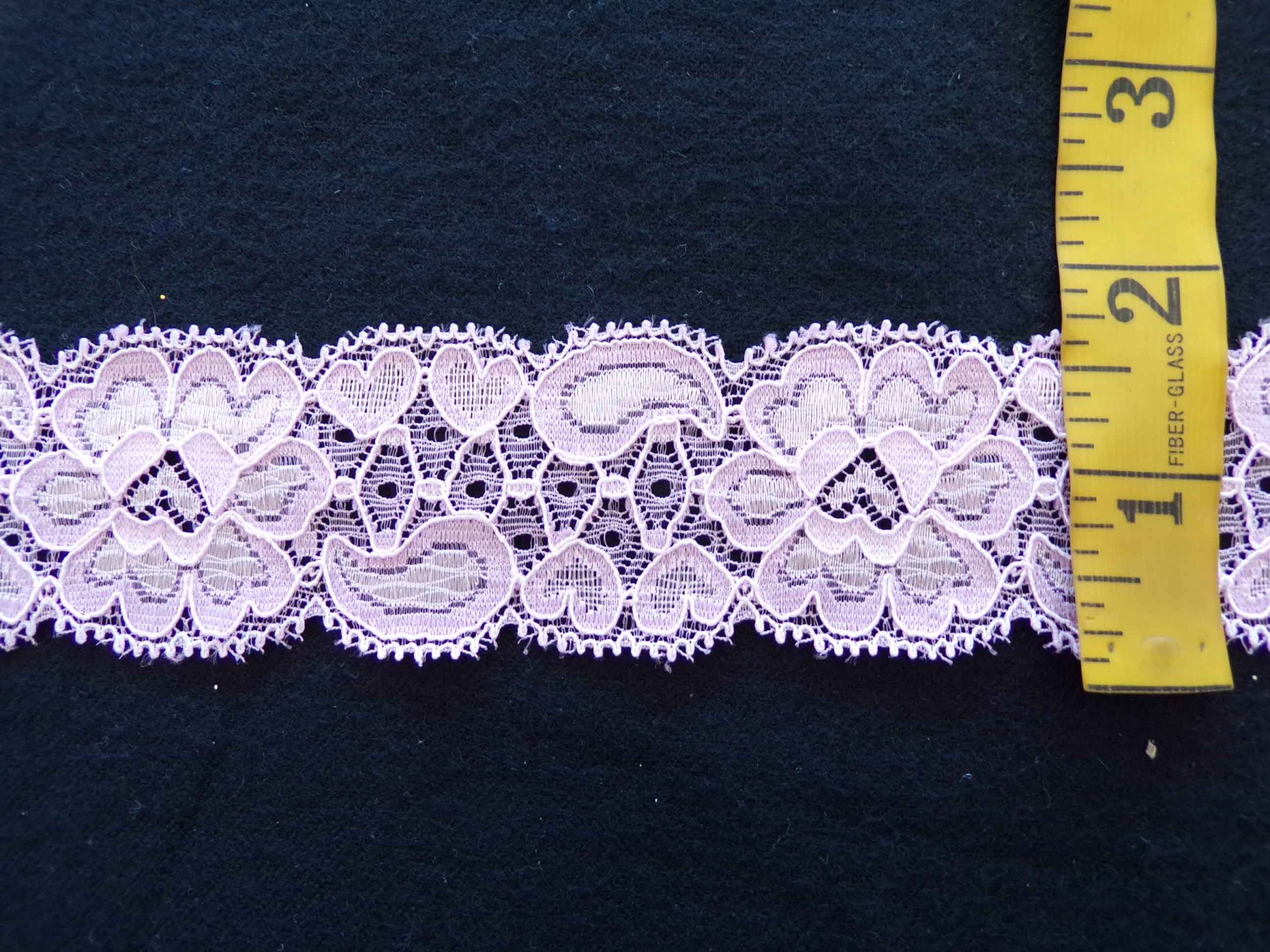 1 5/8 Petal Pink Stretch Lace