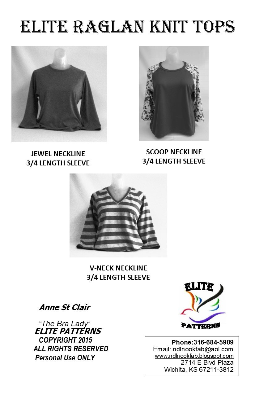 Elite Raglan Knit Tops