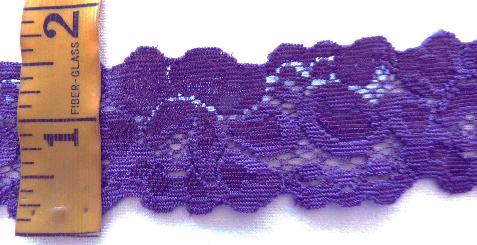 1 5/8 Plum Stretch lace (PLSL332)