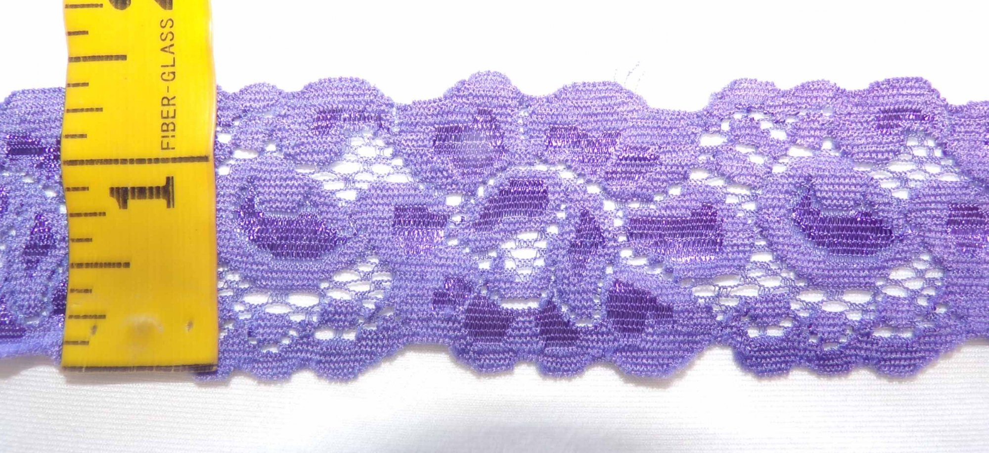 1 5/8 Purple Stretch lace (PUSL332)