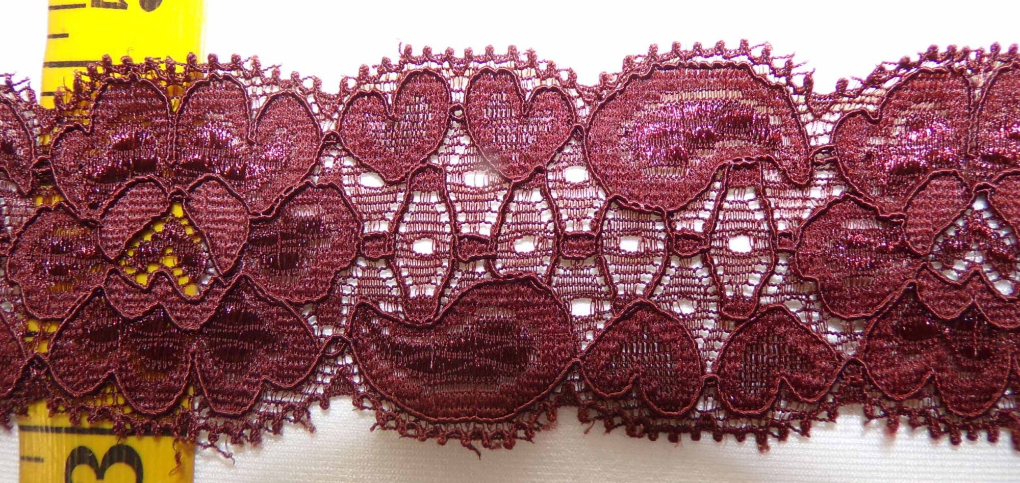 1 5/8 Reddish Brown Stretch lace (RBSL341)
