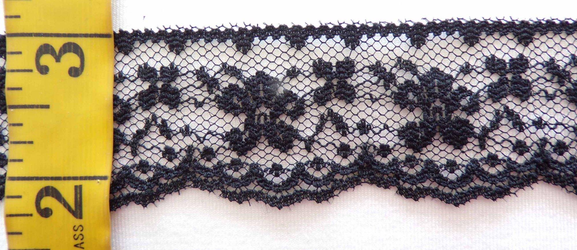 1 1/4 Black Rigid Lace