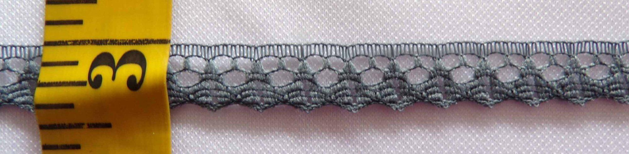 3/8 Rigid Lace - Dark Gray