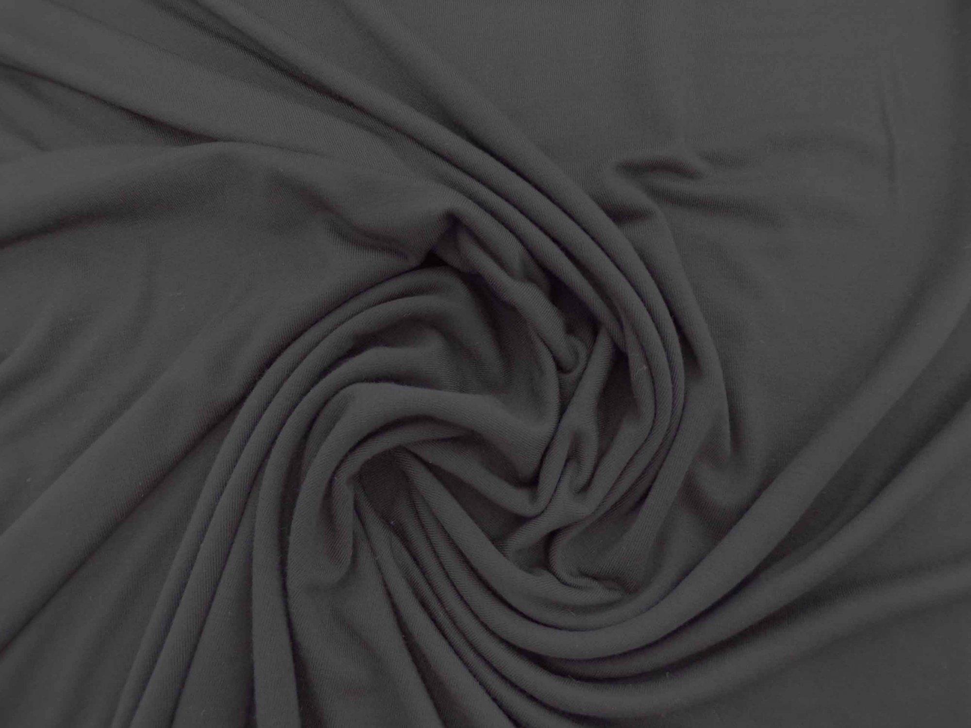 Rayon Lycra Jersey - Black