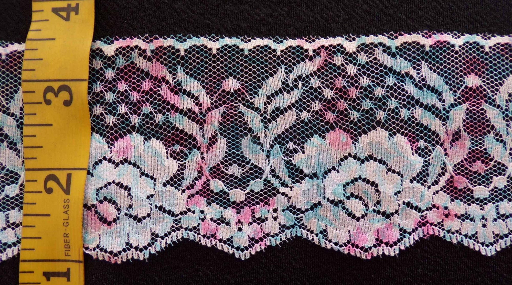 1/2 Rigid Lace - Pink and Blue
