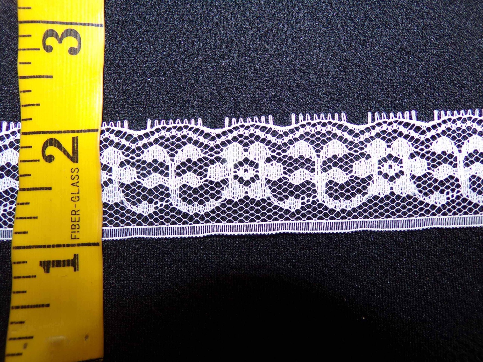 1 1/8  Rigid Lace - White