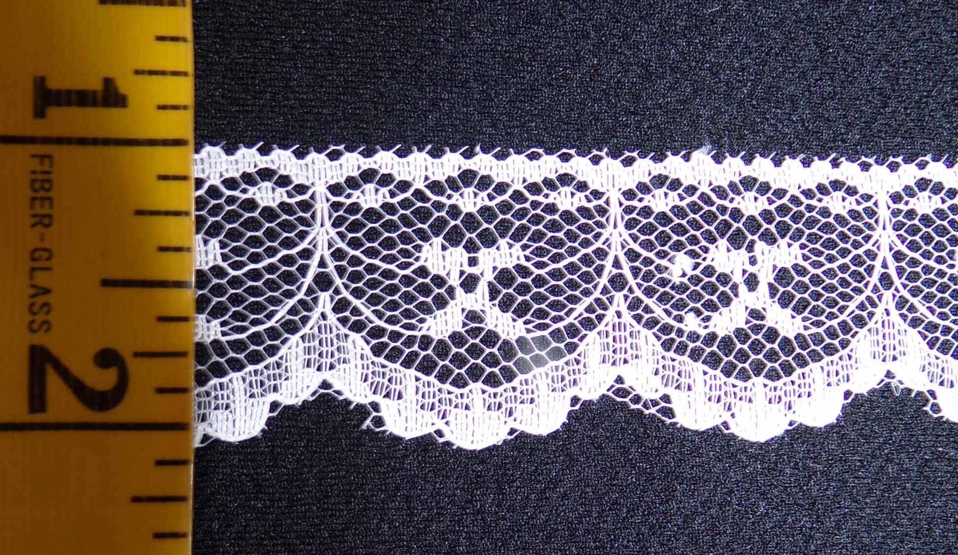 1 1/8  Rigid Lace - White