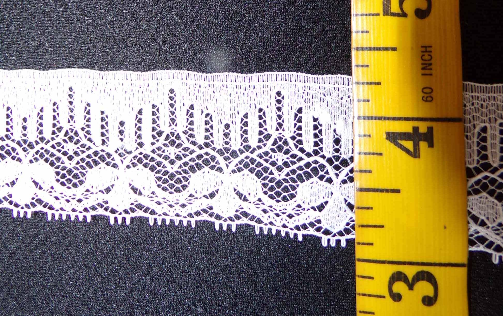 1 1/4  Rigid Lace - White
