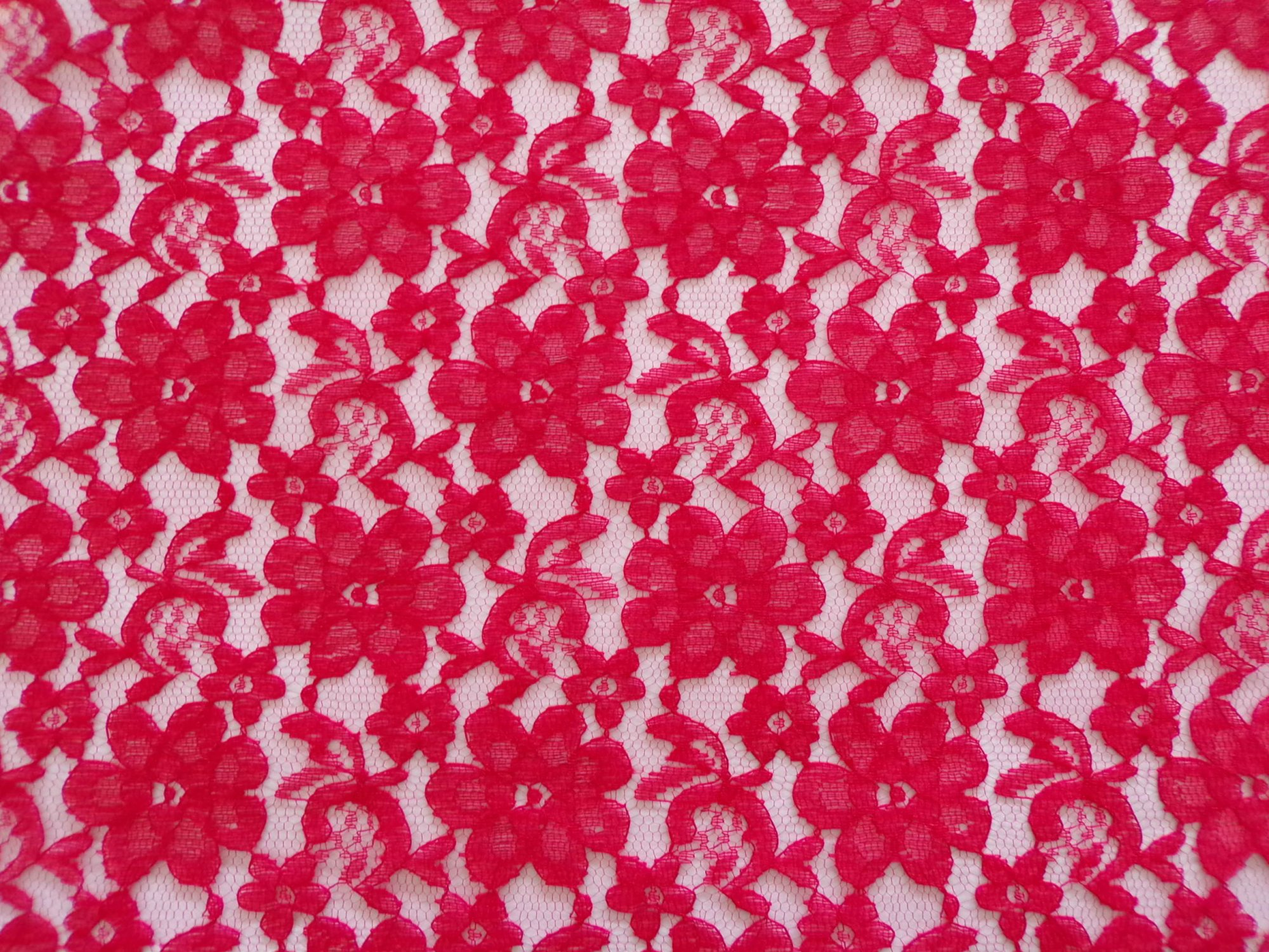 Raschel Lace - Red