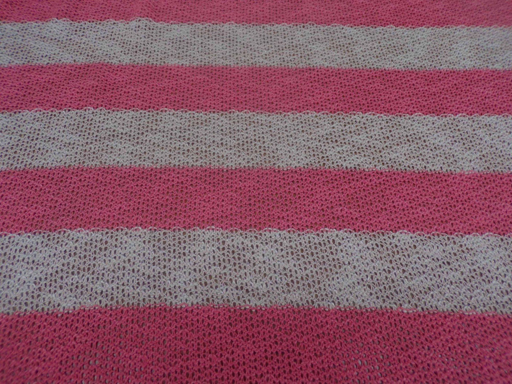 Ella Moss Coral & Tan Striped Sweater Knit