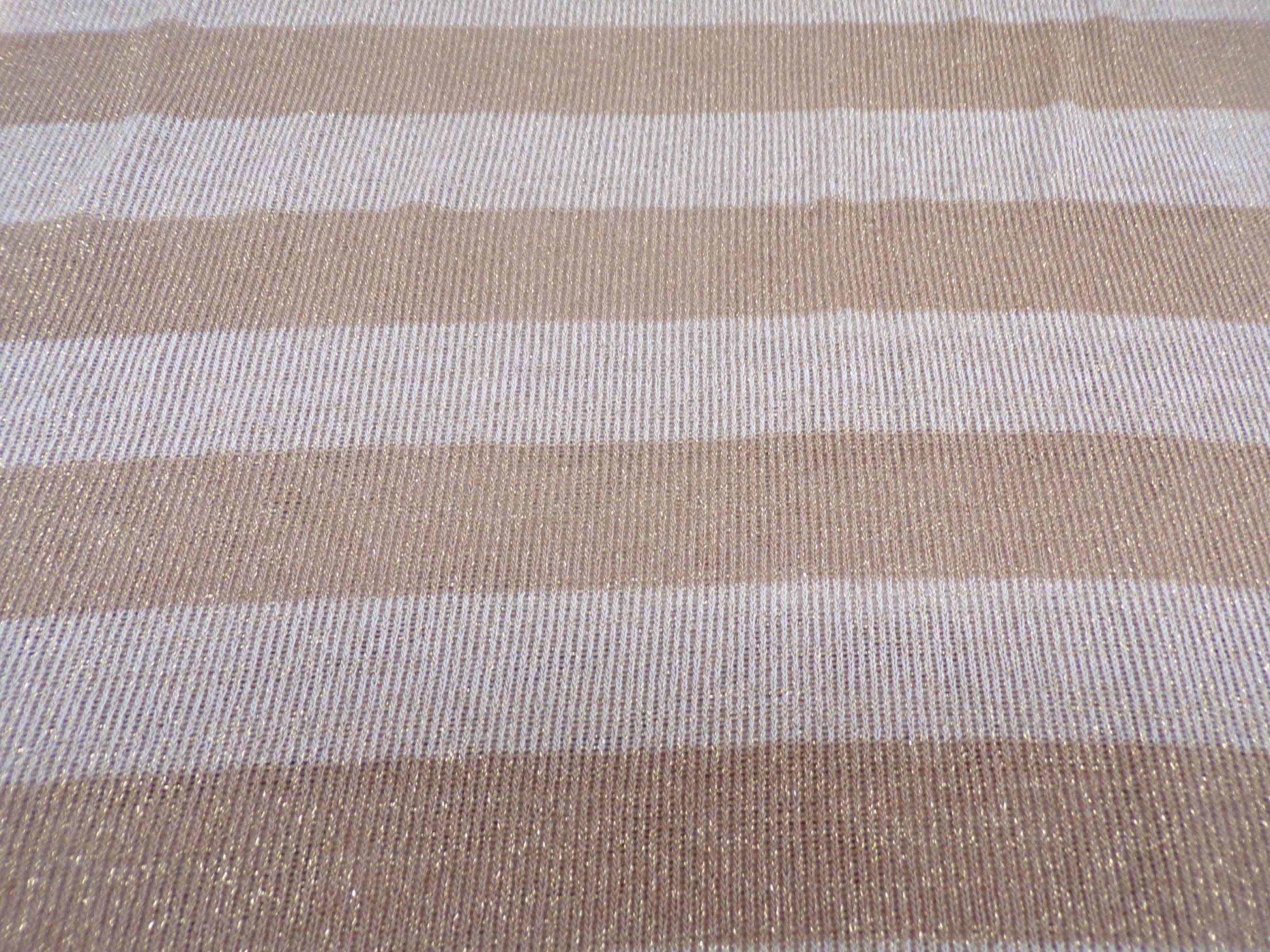 Tan & Cream Wide Striped Sweater Knit