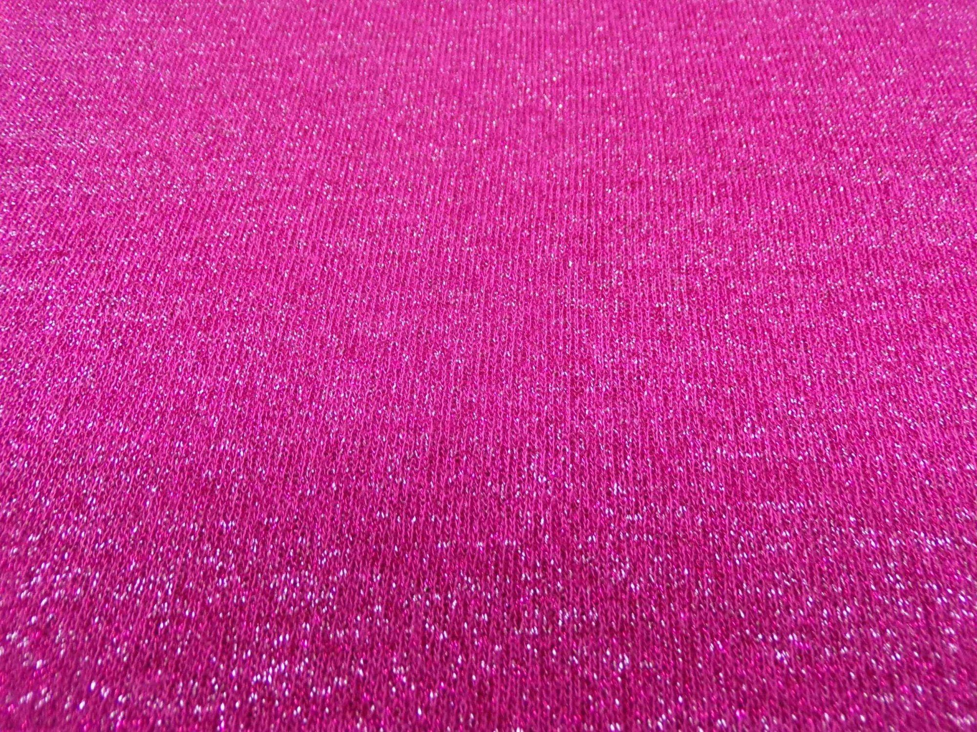 Raspberry Metallic Sweater Knit