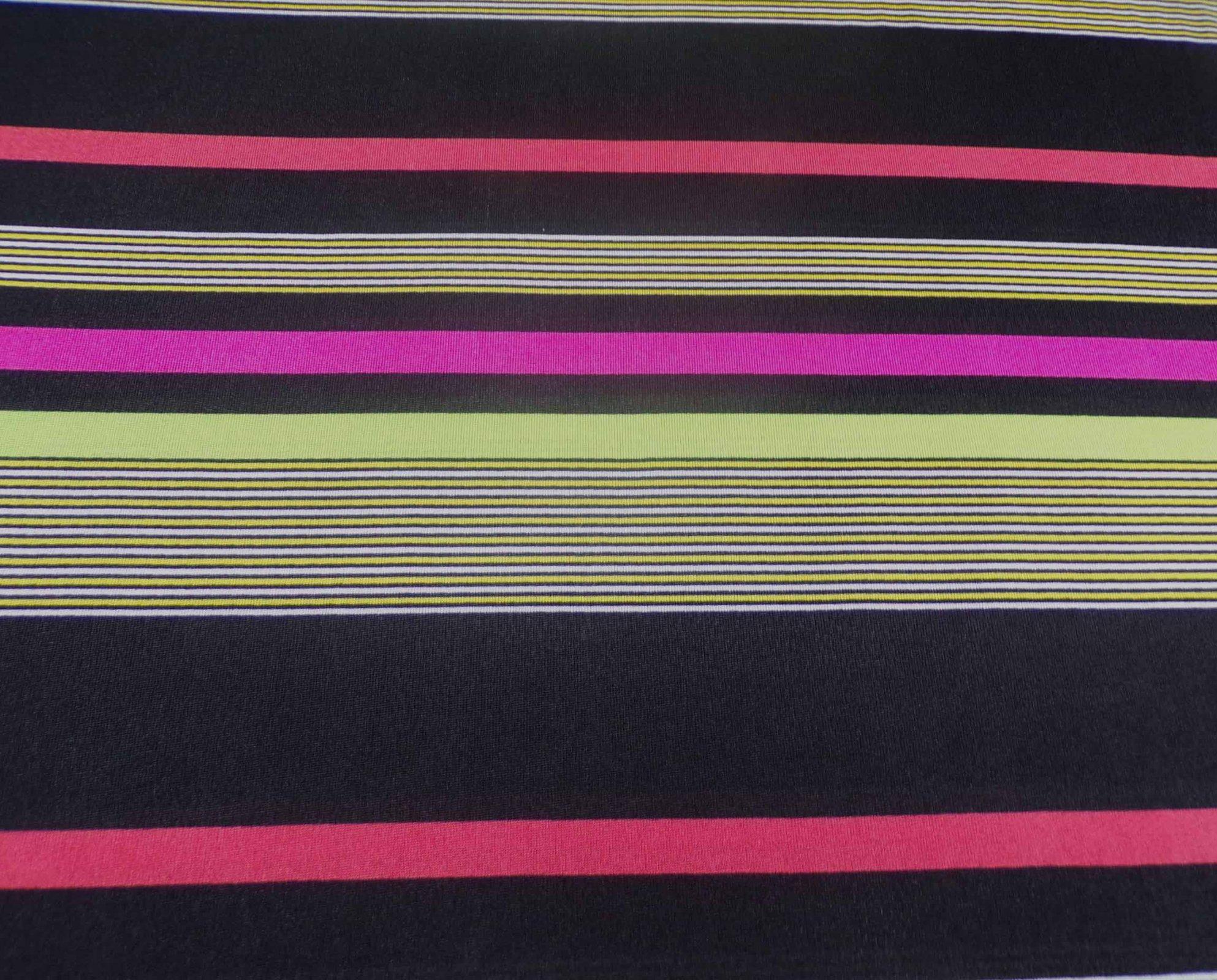 Black & Neon Striped Sweater Knit