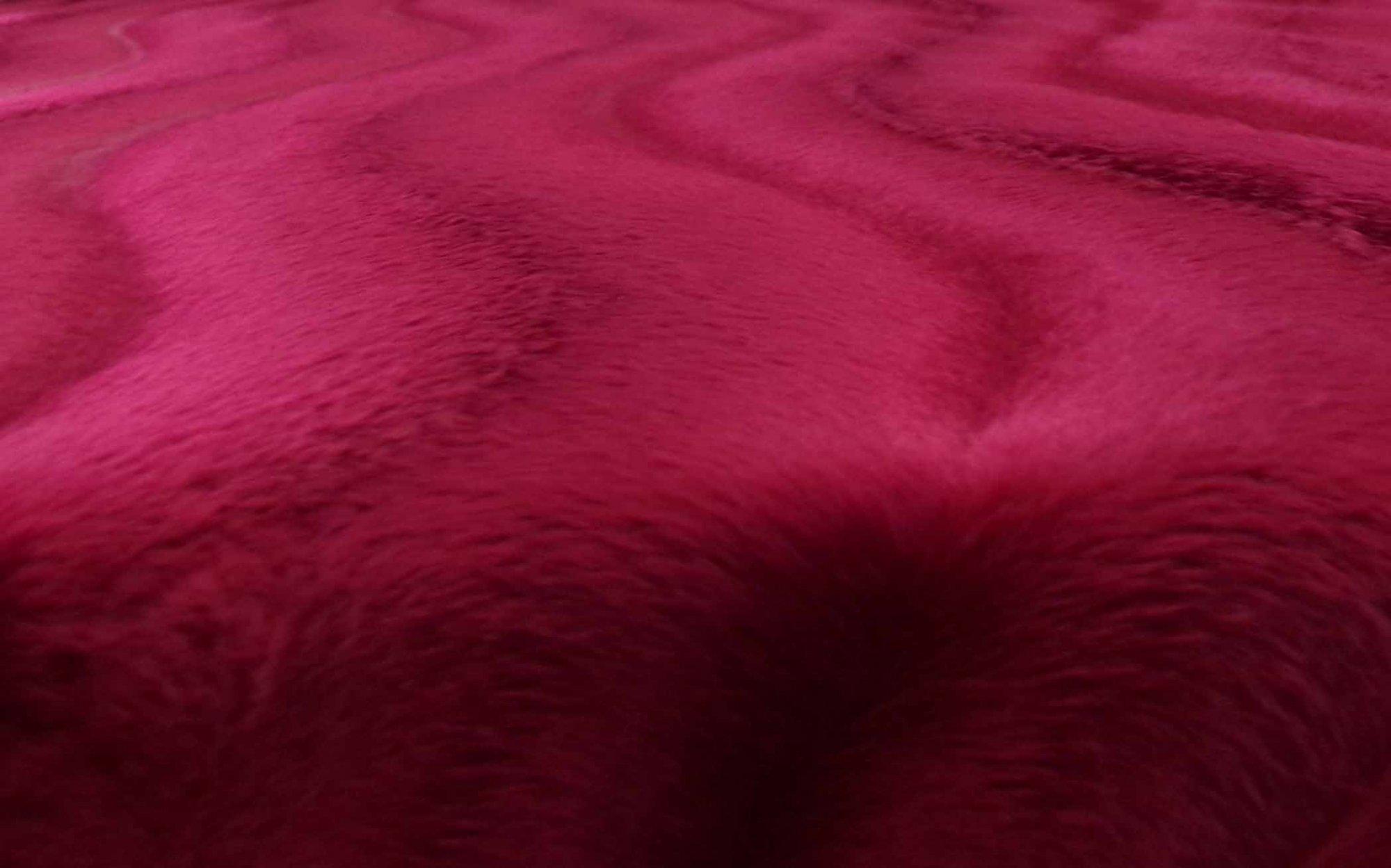 Maroon Faux Fur Sweater Knit