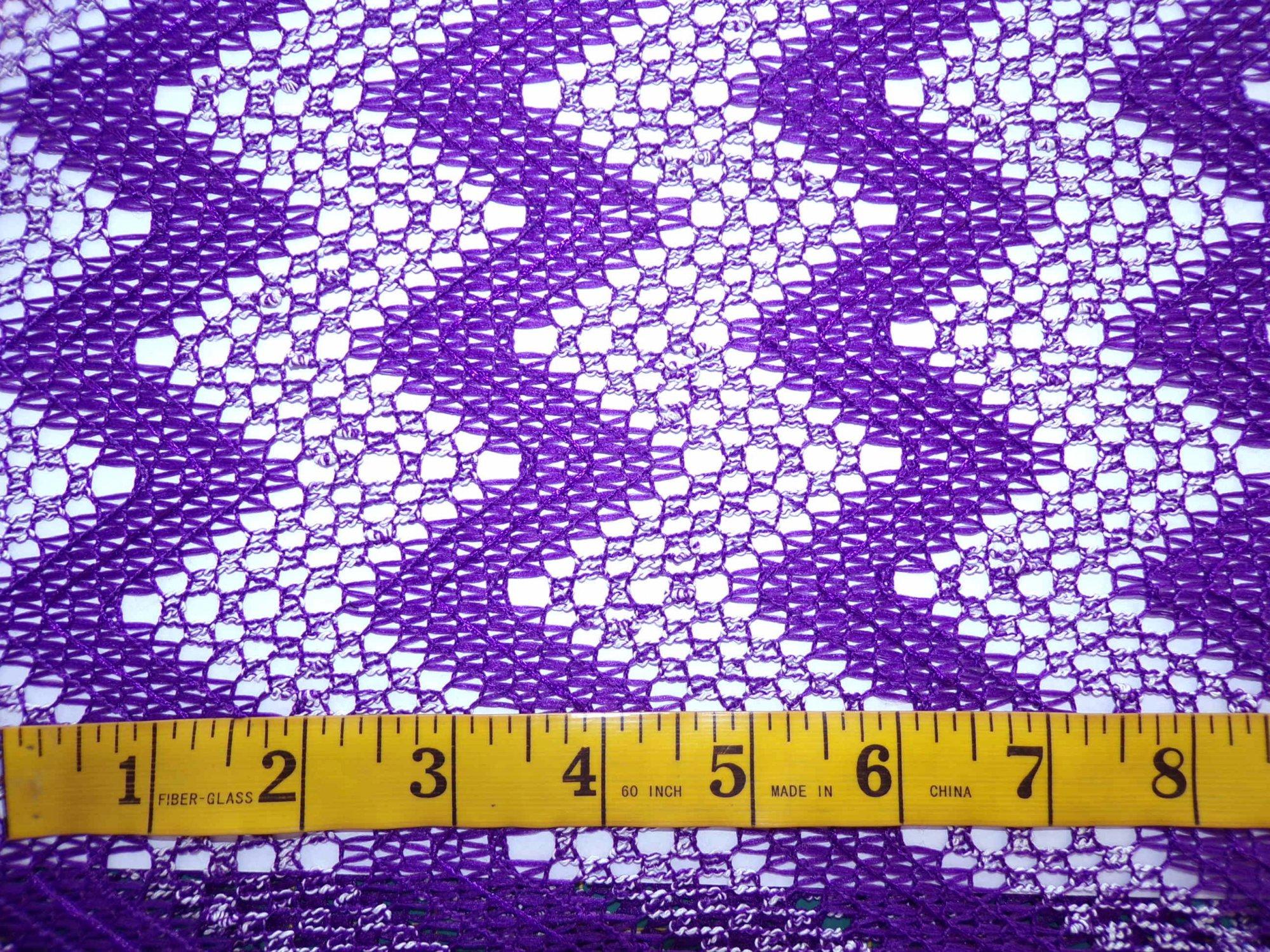 Lace Sweater Knit - Purple Chevrons