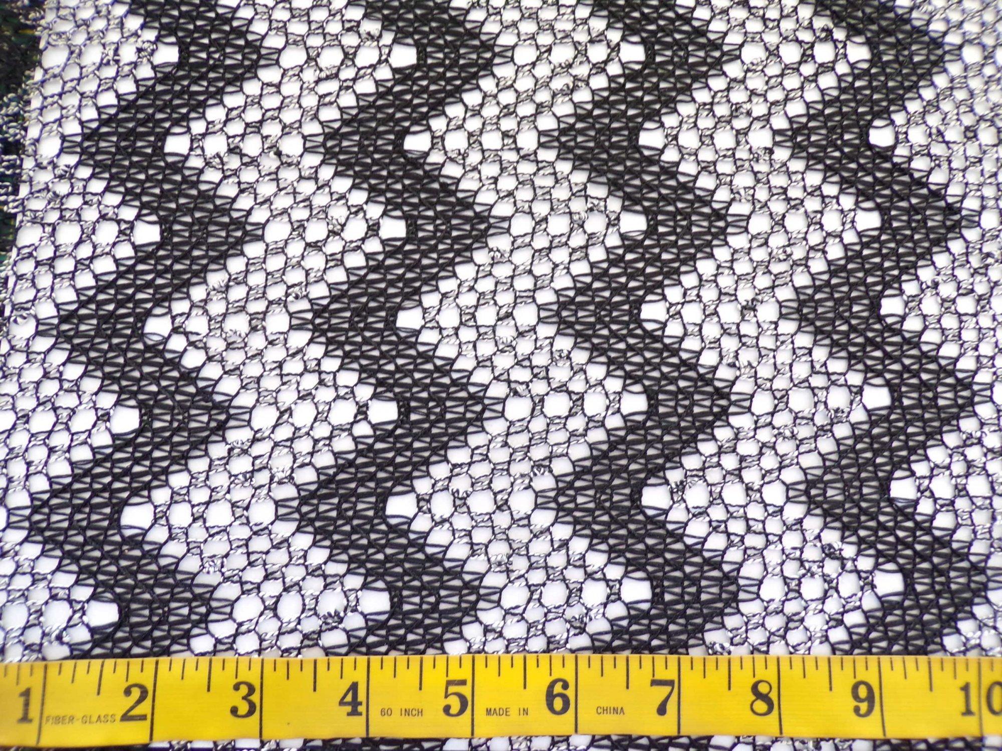 Lace Sweater Knit - Black Chevrons