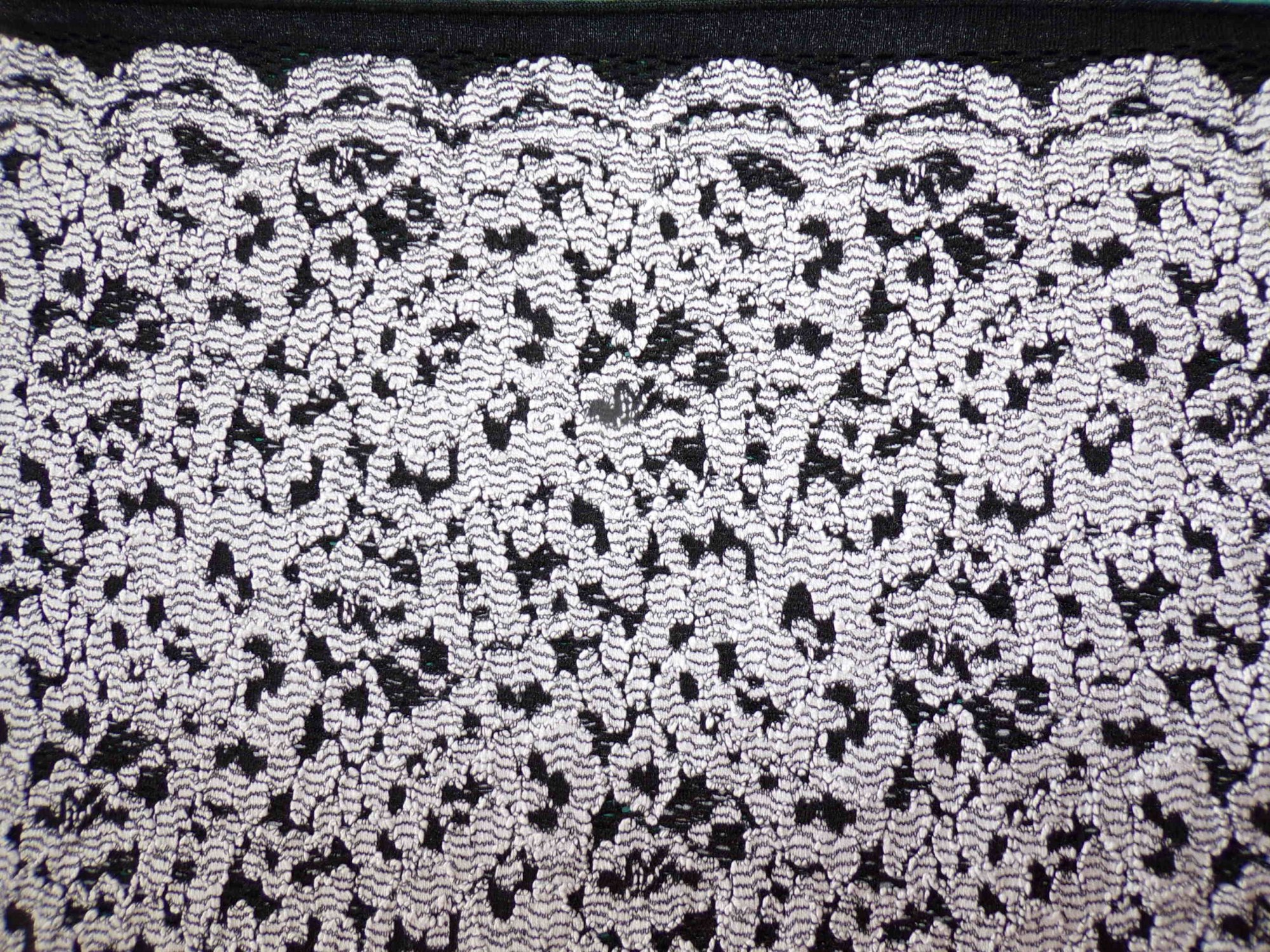Lace Sweater Knit - Black and White