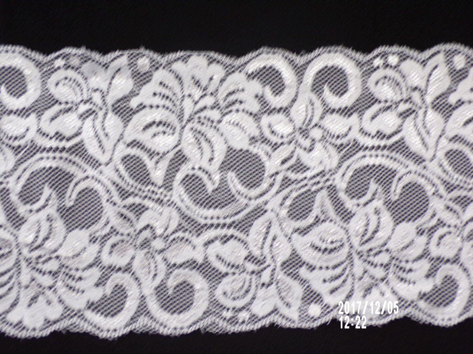 6in White stretch lace (SL13)