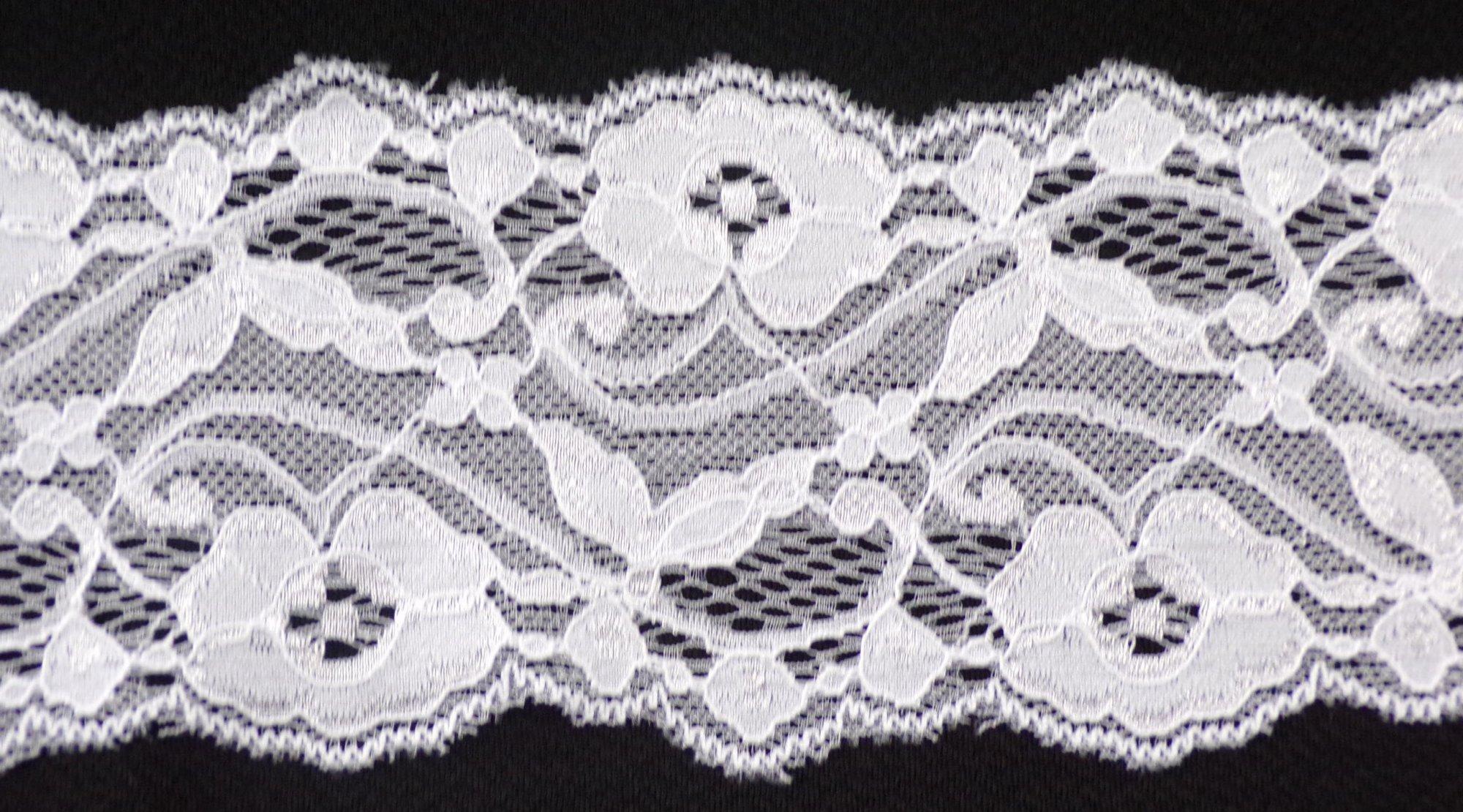 3 1/4in White stretch lace (SL138)
