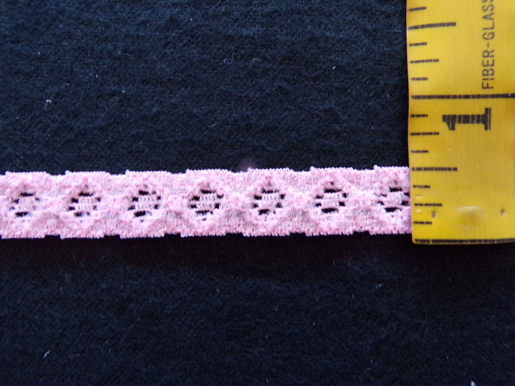 1/2  Peachy Pink Stretch Lace