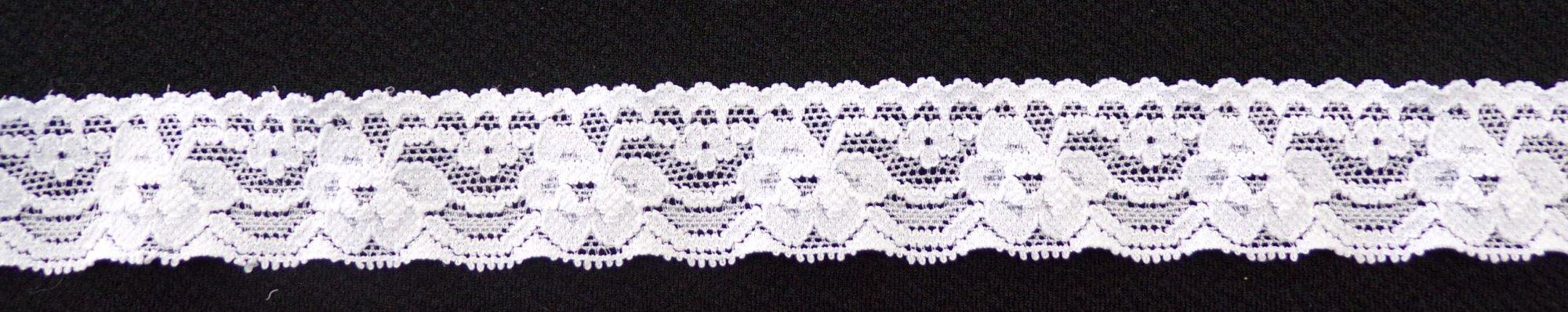 1in White stretch lace (SL320)
