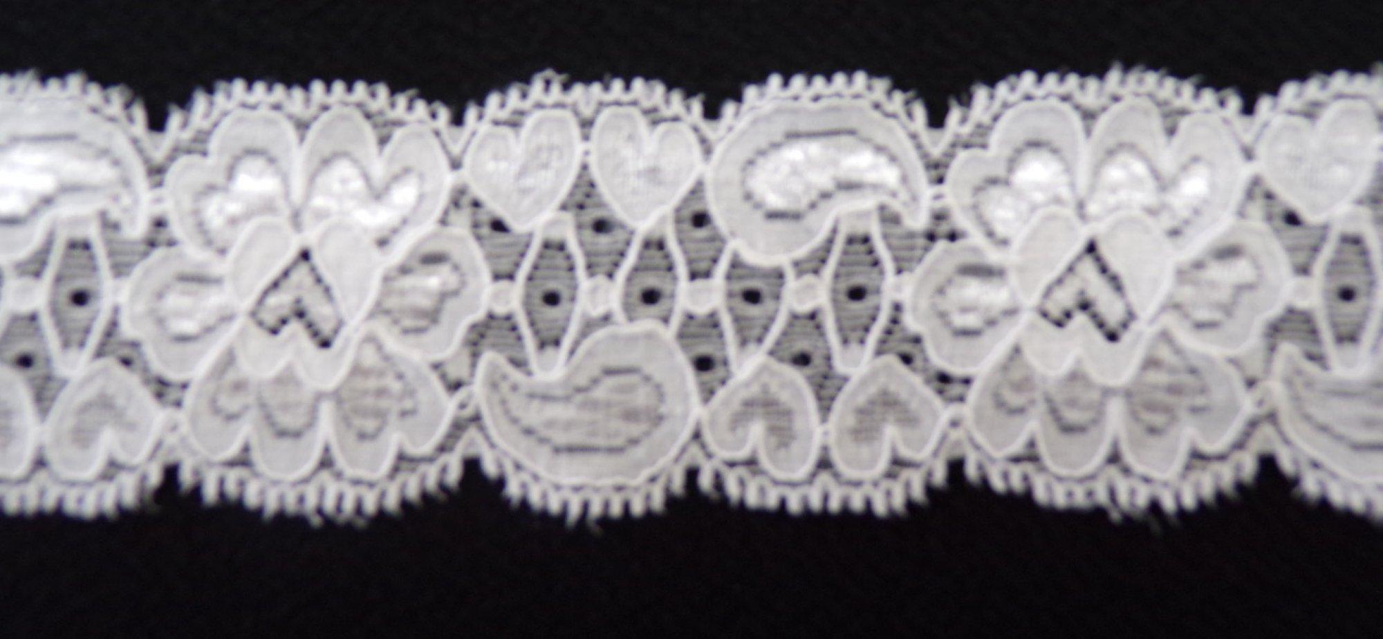 1 5/8in White stretch lace (SL341)